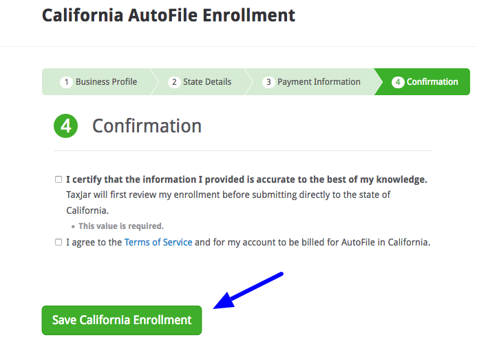 Save California Enrollment