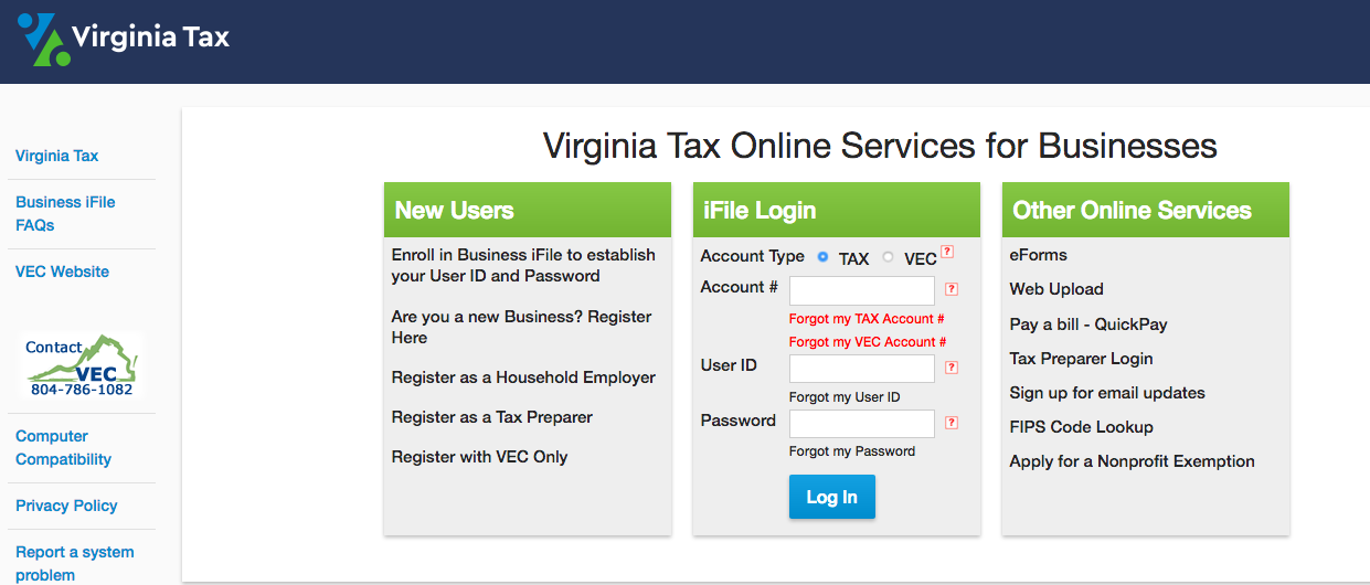 Virginia: What is my State Login and State Passcode