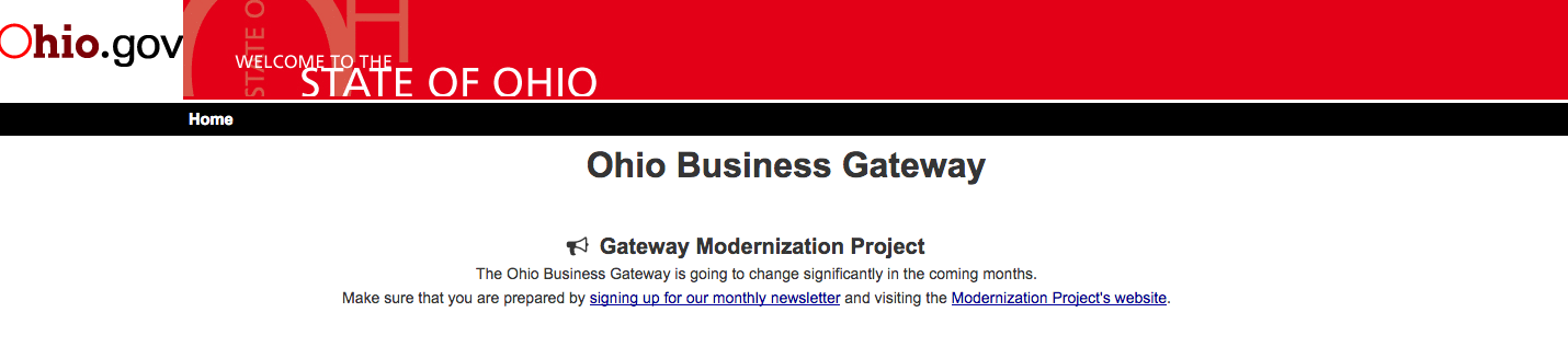 Ohio Business Gateway Modernization