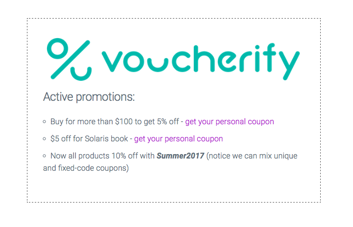 personal coupons