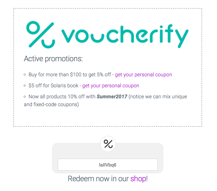How to create your coupon aggregator voucherify support you can test it yourself visit our sample aggregator solutioingenieria Image collections