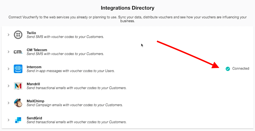 Integration Directory Voucherify