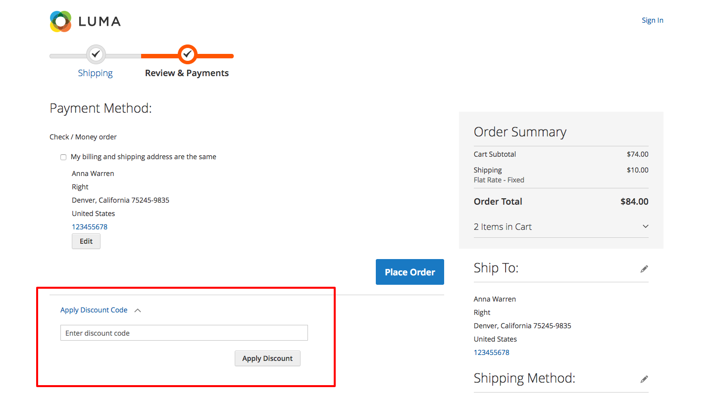 Using Voucherify coupons in Magento