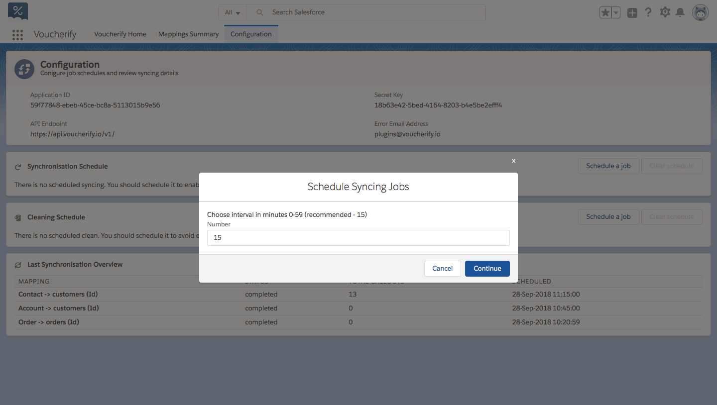 Scheduling syncing jobs in Salesforce