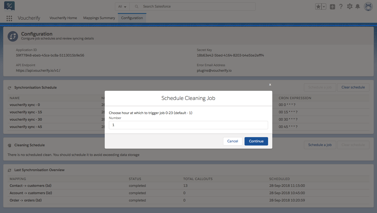Scheduling a cleaning job in salesforce