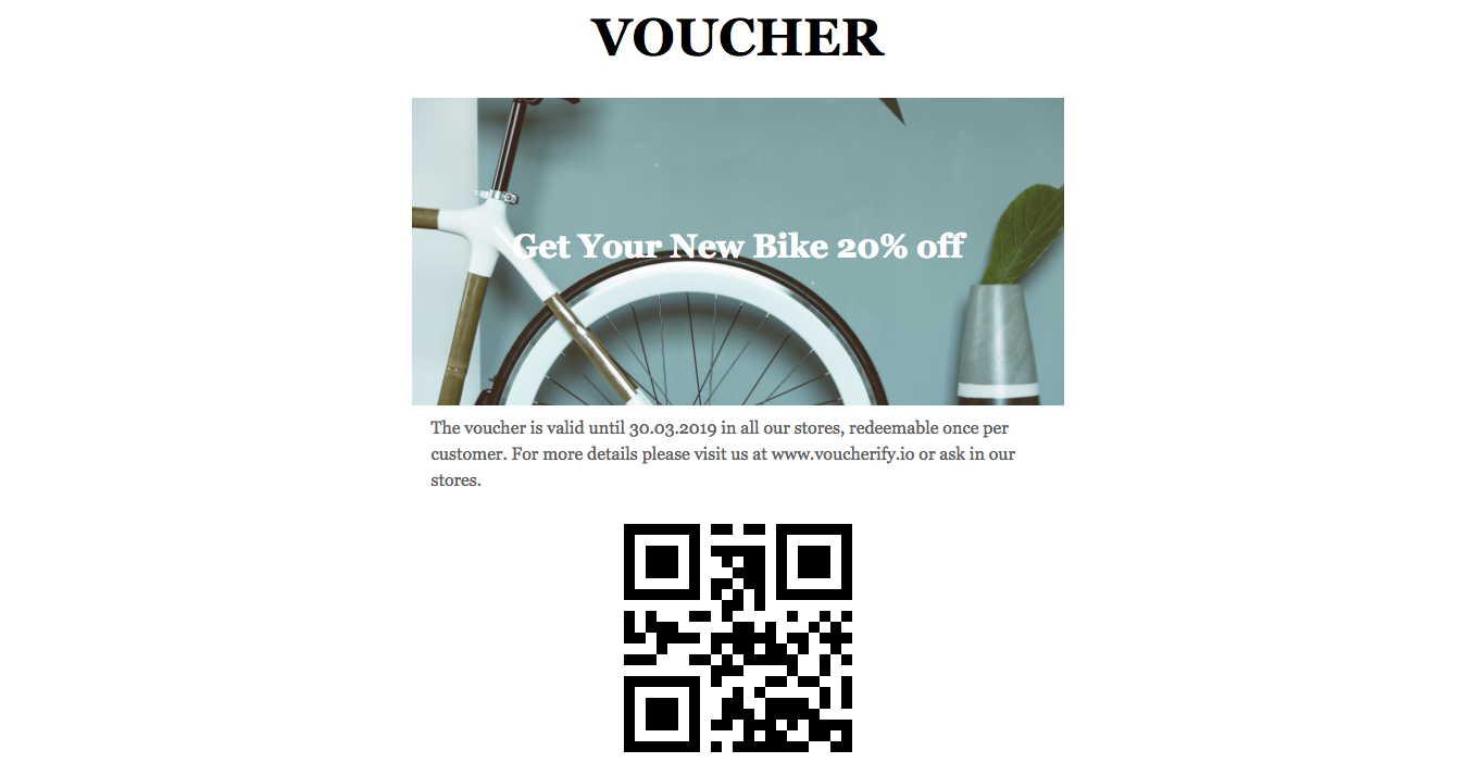 Ready to print voucher