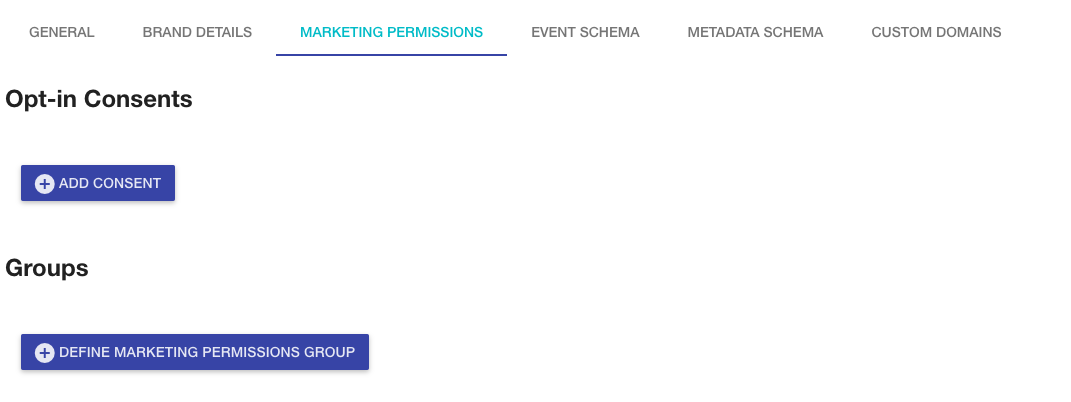 Marketing Permissions