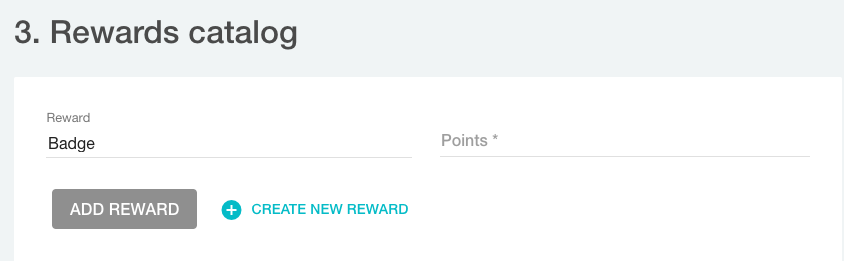 Rewards catalog for rewards program