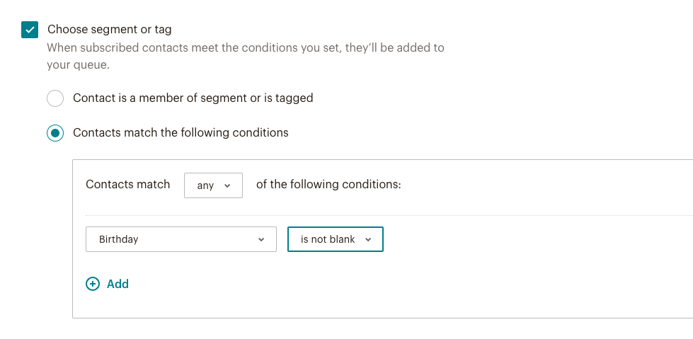 Filtering customers in MailChimp