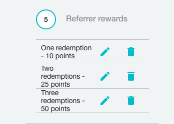 Tiers fo the referral program