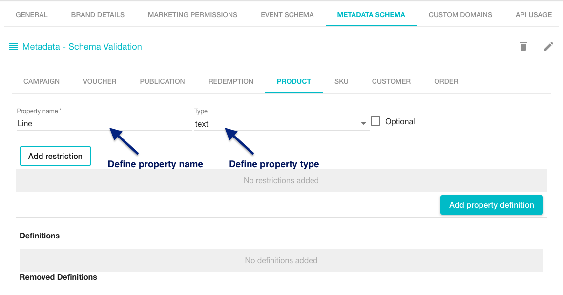 Creating product metadata