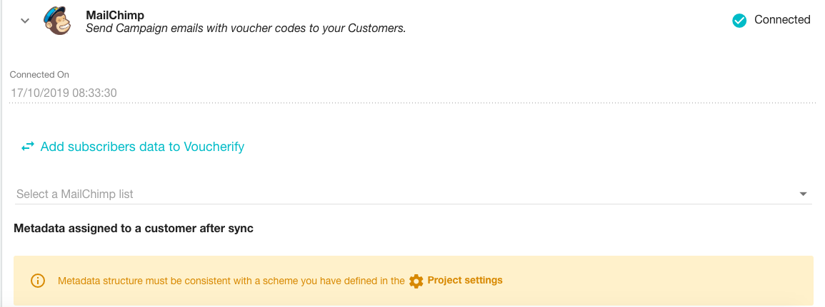 MailChimp Integration email distribution