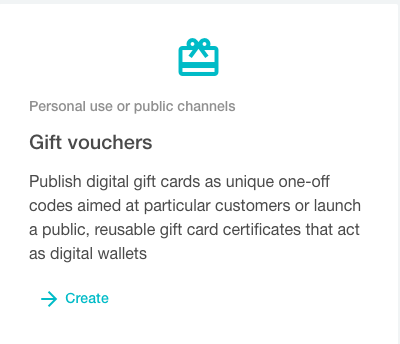 Gift vouchers campaign