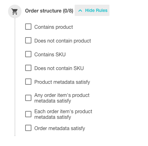 Order structure validation rules