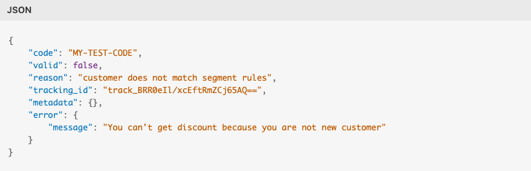 Custom error message example