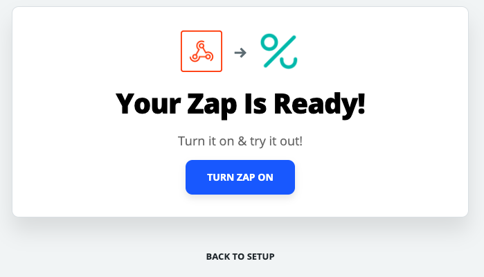 Successful test in Zapier