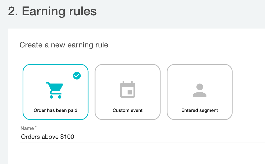 Types of Earning rules