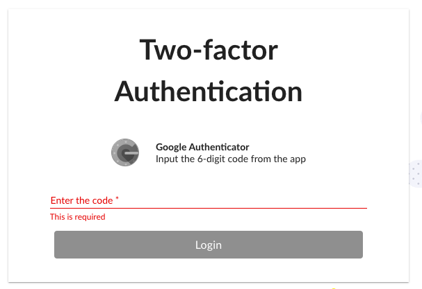 2-factor login attempt