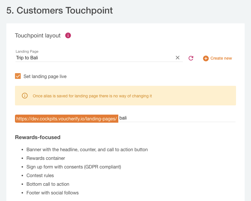 Choosing a customer touchpoint