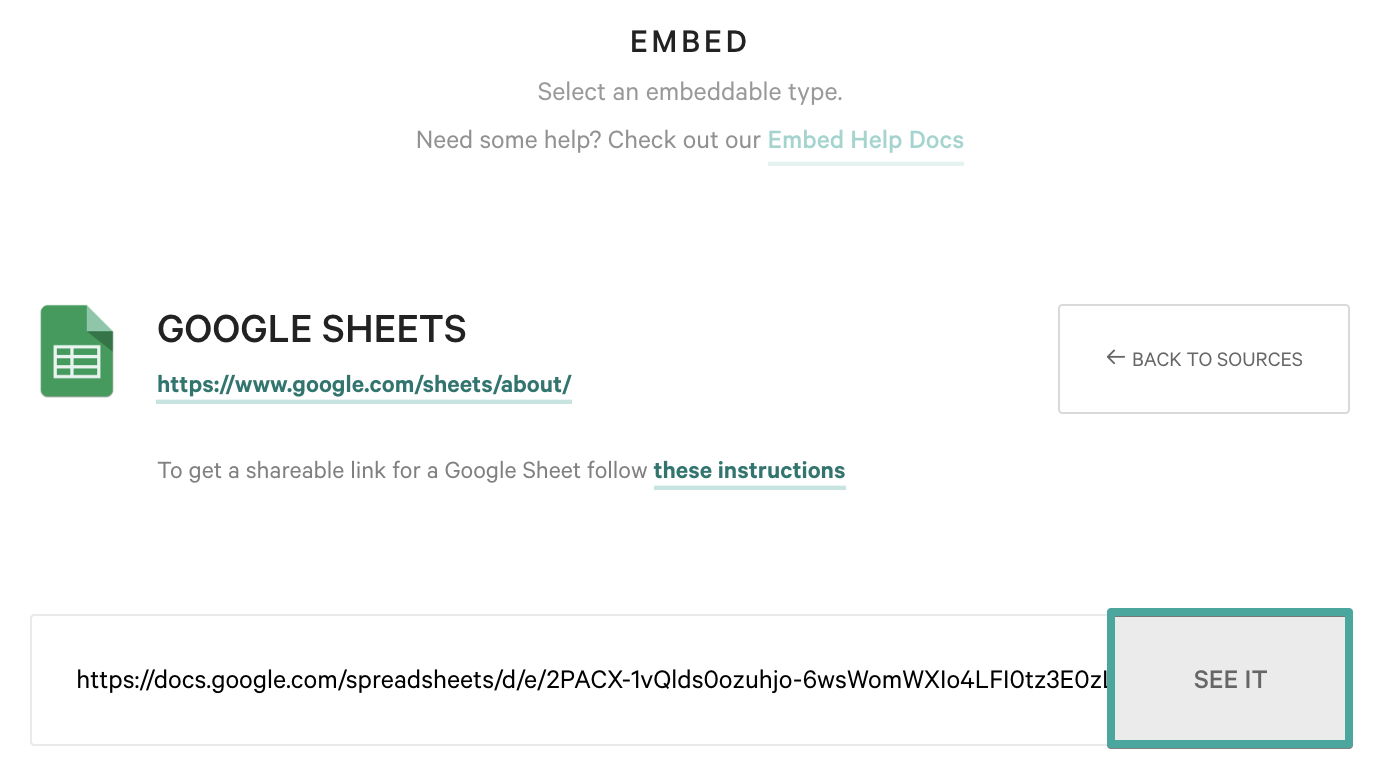Embedding Google Sheets - Qwilr Help Center