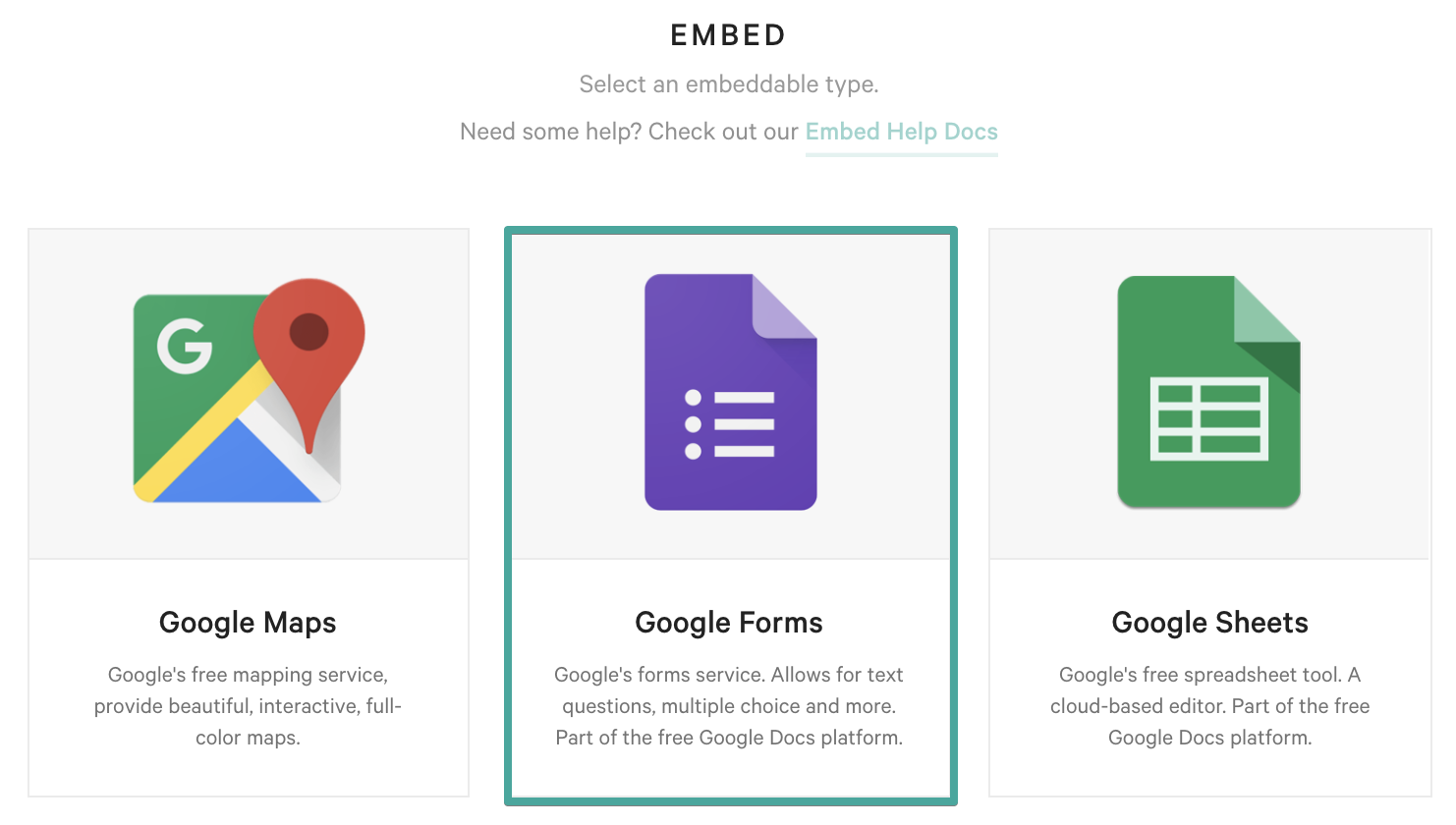 1a2df2427 Select Google Forms from the list of options.