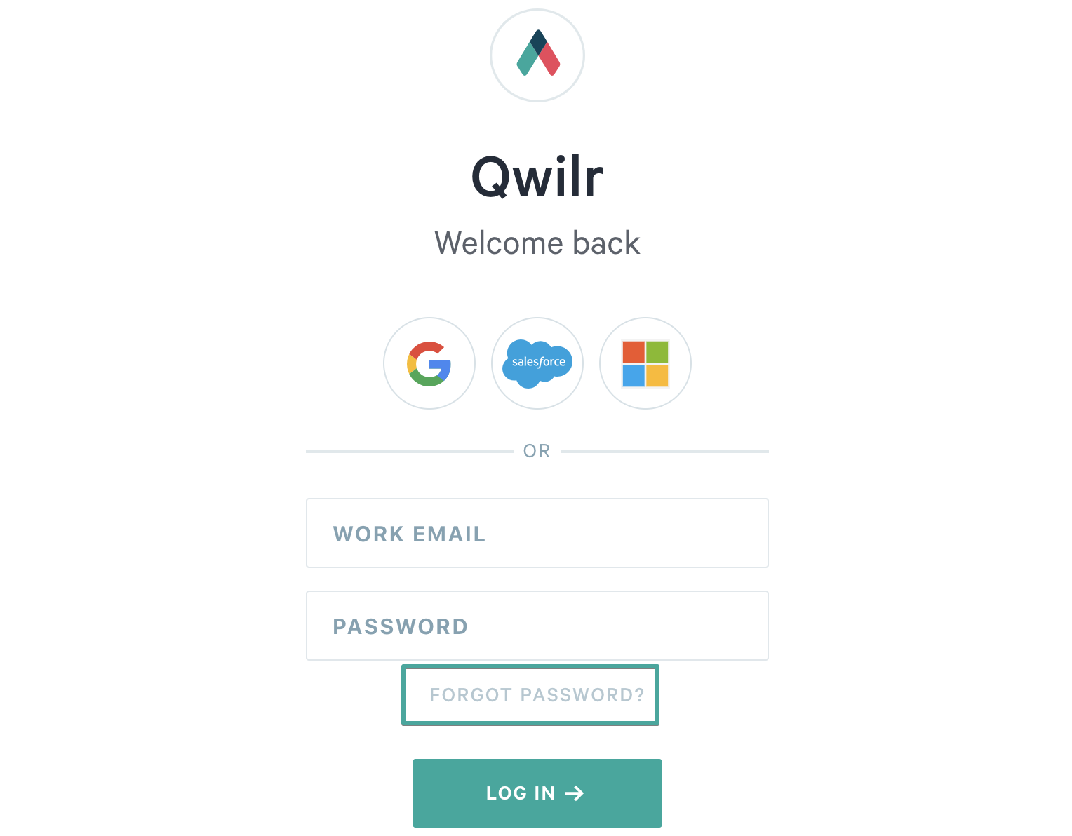 Resetting your password - Qwilr Help Center