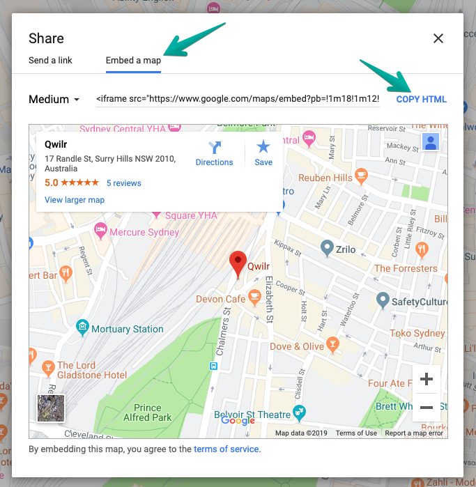 Adding Google Maps - Qwilr Help Center on