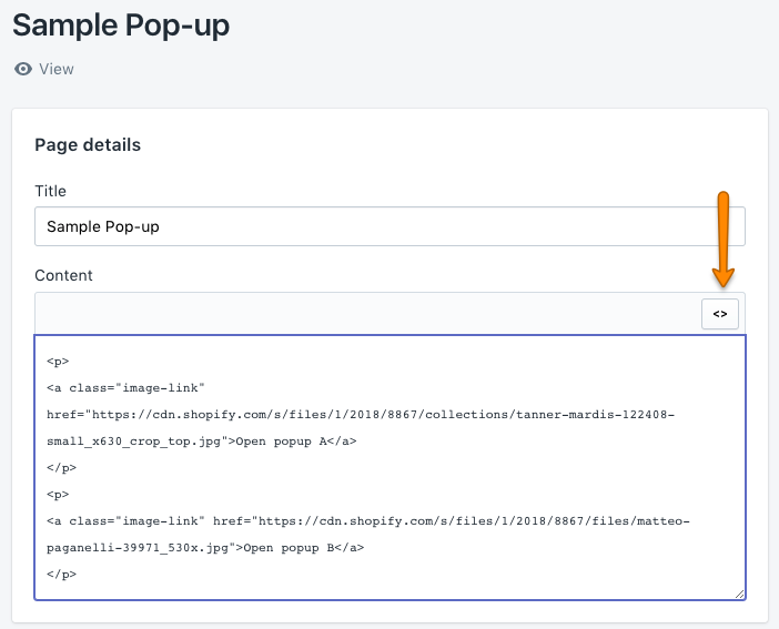 How to show an image in a pop-up window - Pipeline Documentation