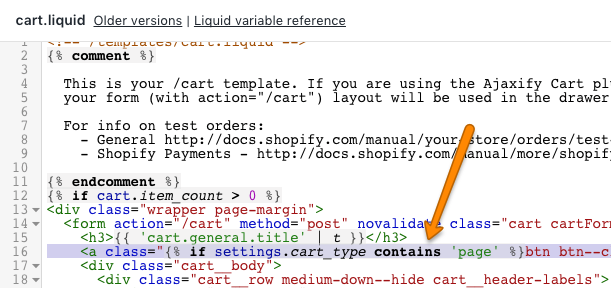 Cart: Add a Continue Shopping link - Pipeline Documentation