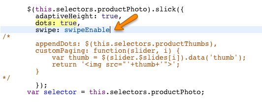 Products: Use dots instead of thumbnail images - Pipeline