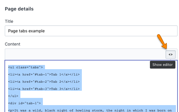 Add custom tabs to your Pages - Pipeline Documentation
