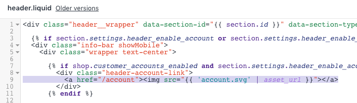 Add text next to the account login icon - Pipeline Documentation