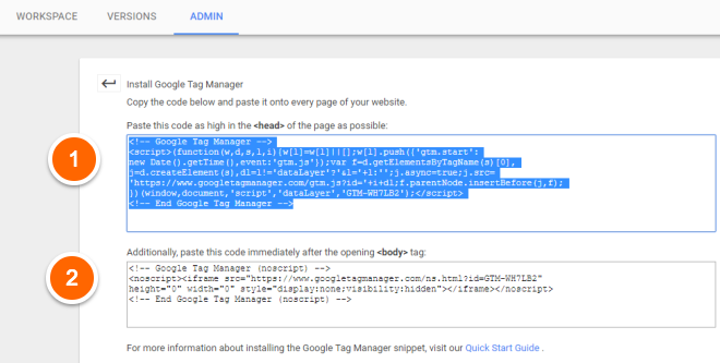 Google Tag Manager - Where to add code - Pipeline Documentation
