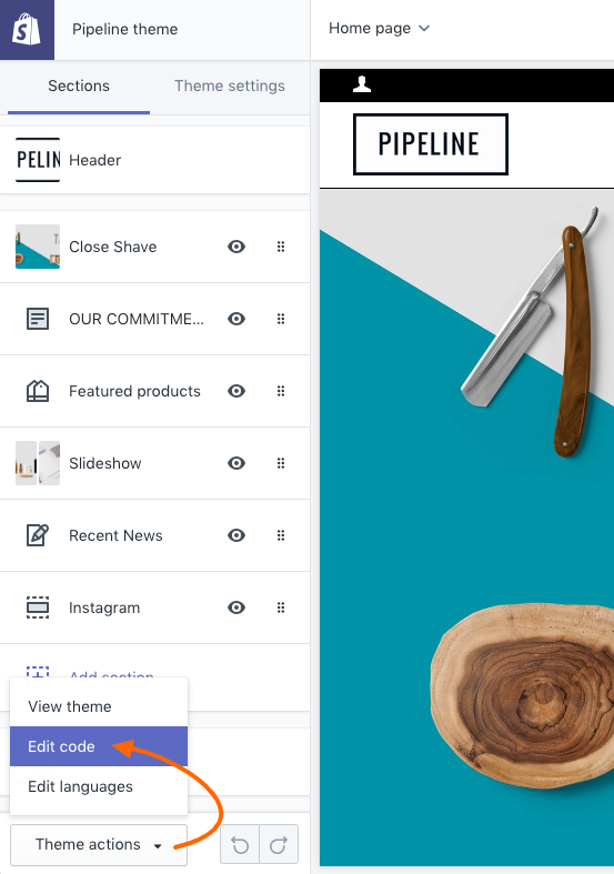 Where to add CSS code changes in Pipeline - Pipeline Documentation