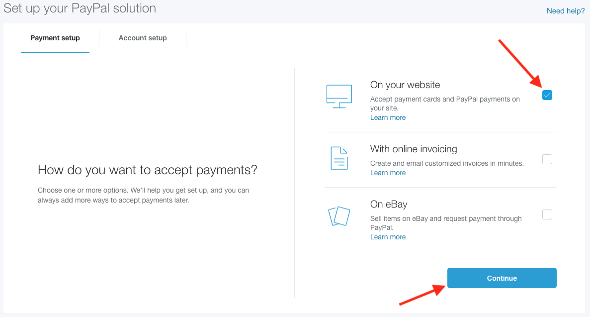 how to turn paypal account into business account