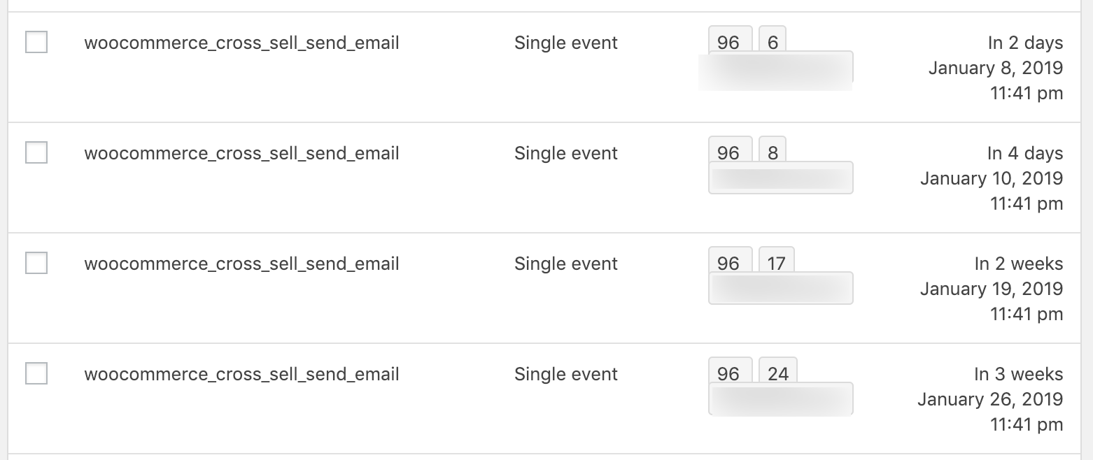 Scheduled email recommendations