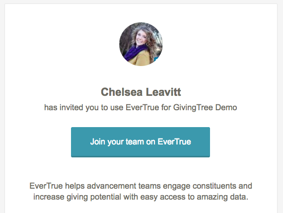 Accepting your evertrue invitation evertrue help please note that these invitations are unique to your person and should not be shared stopboris Choice Image
