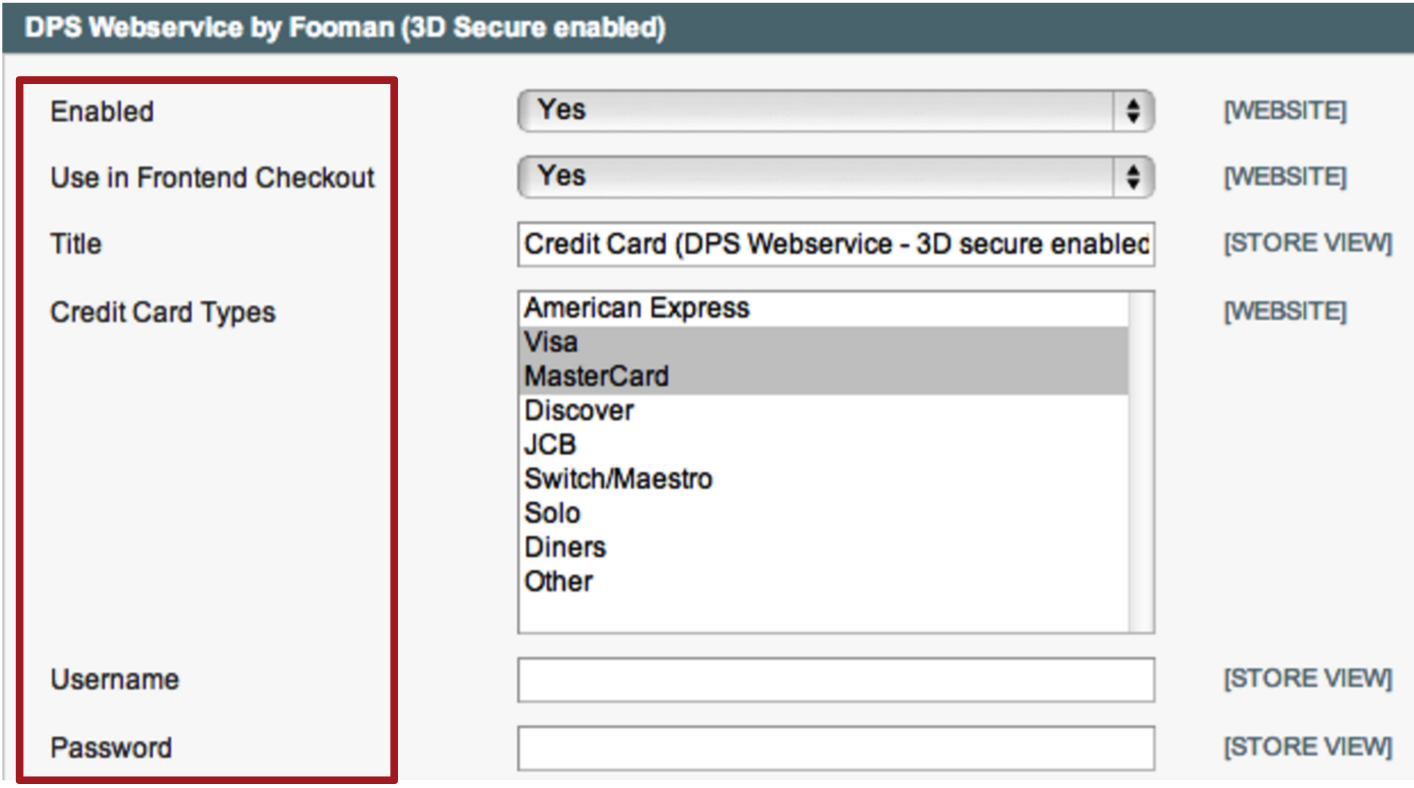 4  DPS Webservice by Fooman (3D Secure Enabled) Settings - Magento 1