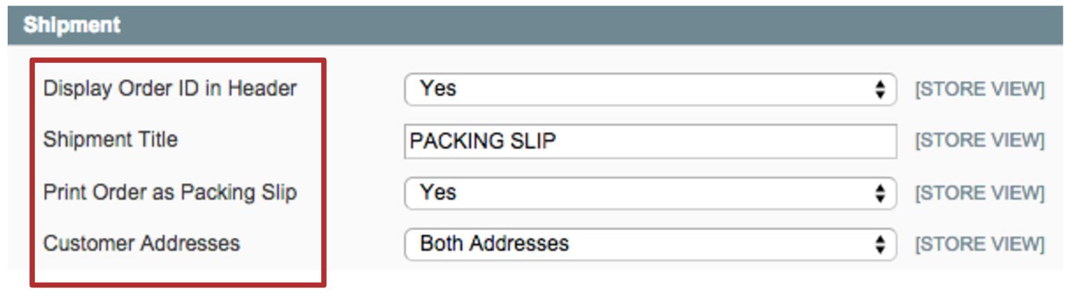shipment slip