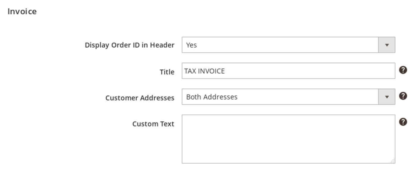 Configure Invoice Pdf Settings Magento 2