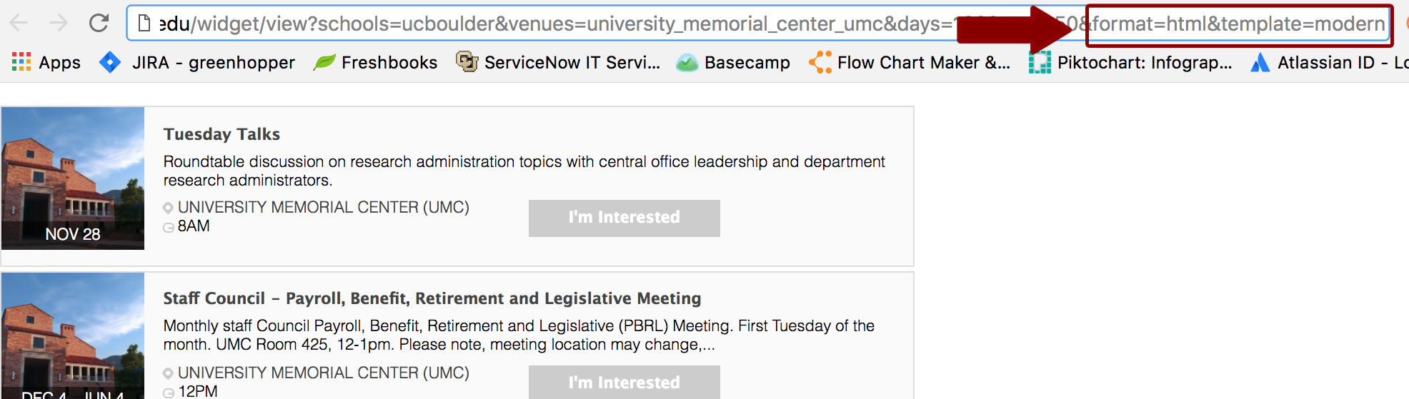 Creating an RSS Feed of Events   Campus Events Calendar   University