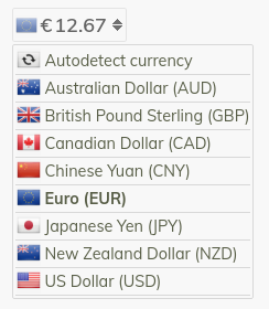 Full currency name