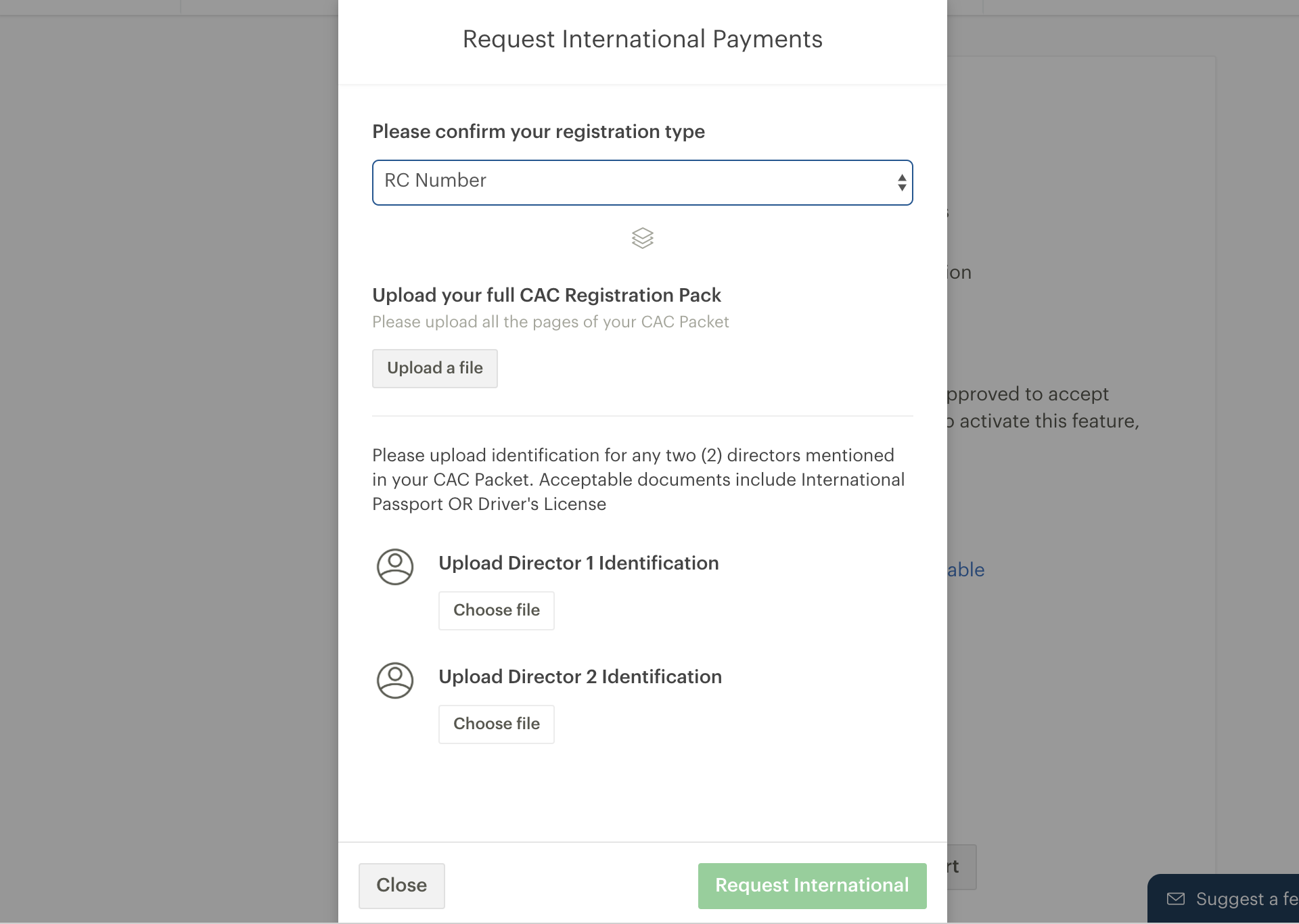 How To Turn On International Payments On Paystack Paystack Help Desk