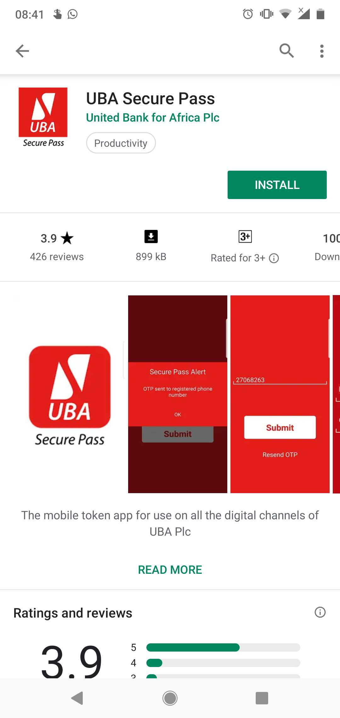 How to Setup UBA Secure Pass to Generate OTPs - Paystack