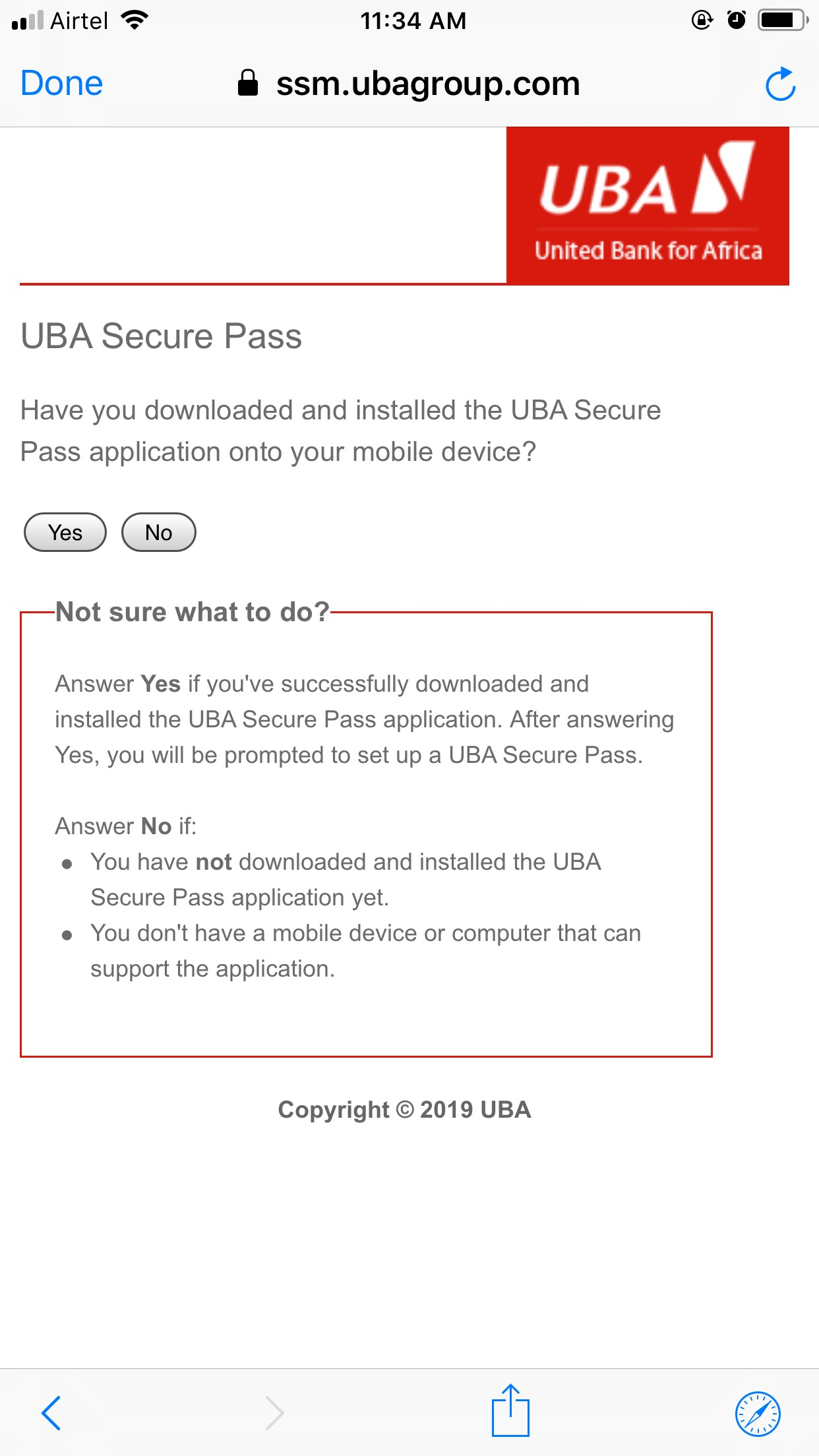 How to Setup UBA Secure Pass to Generate OTPs - Paystack Help Desk