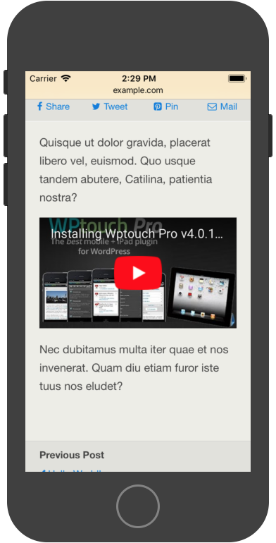 Embedding video - WPtouch Support Center
