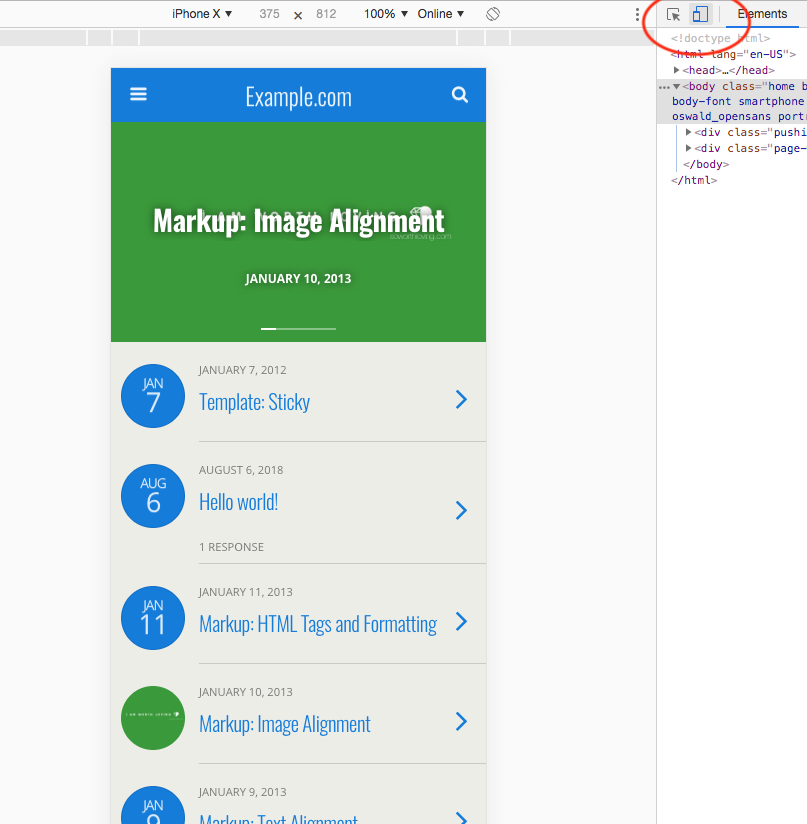 Previewing your mobile site in a desktop browser - WPtouch