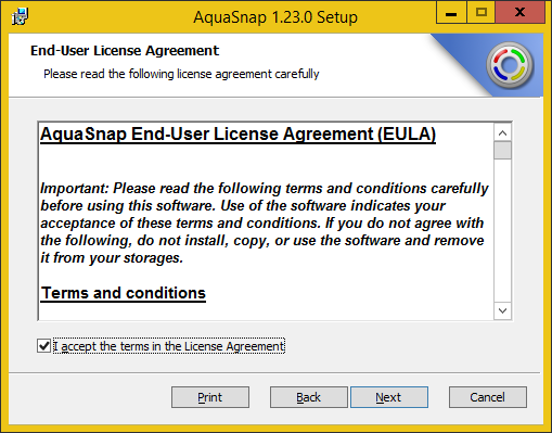 Installing AquaSnap from the MSI package - Nurgo Software