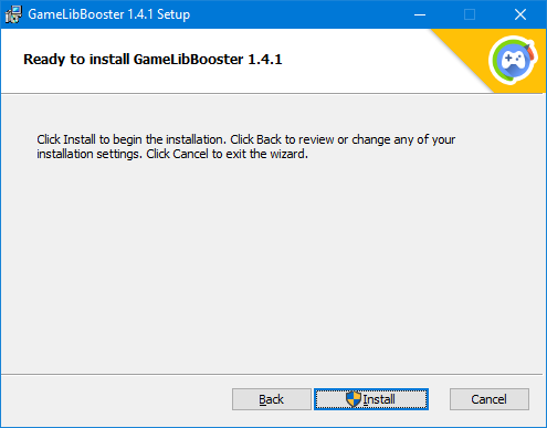 GameLibBooster - Installation confirmation