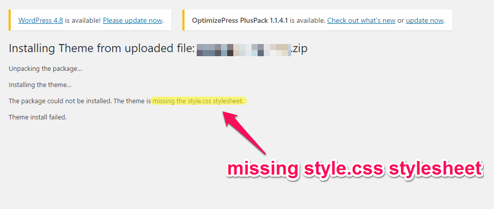you will usually encounter this error if you uploaded a plugin or a content template to the wordpress theme directory wordpress dashboard appearance